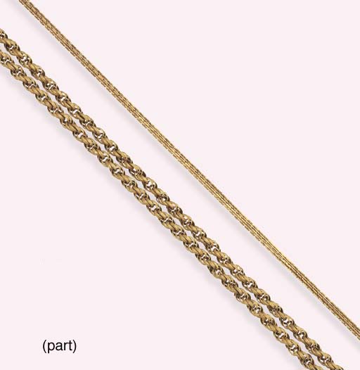 A GROUP OF ANTIQUE GOLD CHAINS