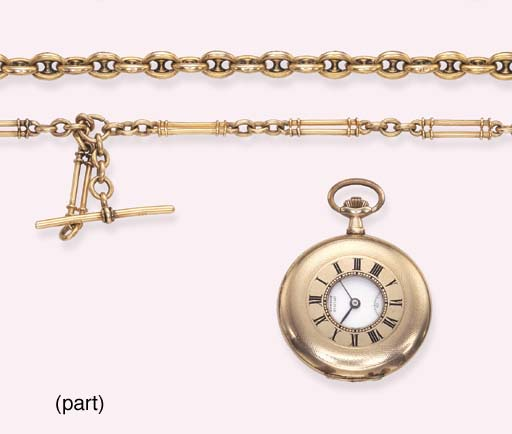 TWO POCKET WATCHES AND FOUR GO