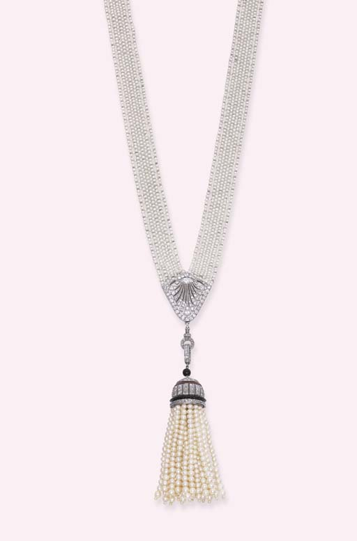 A BELLE EPOQUE SEED PEARL AND