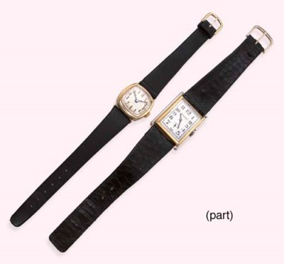 A GROUP OF FOUR WATCHES AND TH