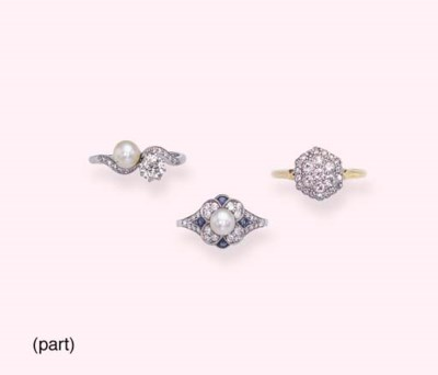 A GROUP OF SAPPHIRE, DIAMOND A