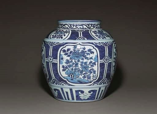 A RARE MING DATED BLUE AND WHI