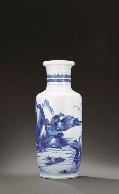 A FINE BLUE AND WHITE ROULEAU