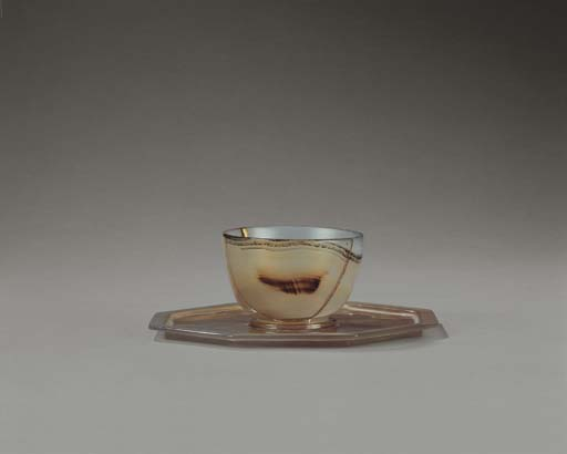 A VERY RARE AGATE CUP AND CUPS