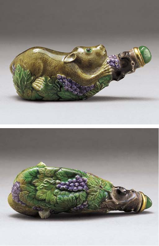 A MOULDED AND ENAMELLED SQUIRR