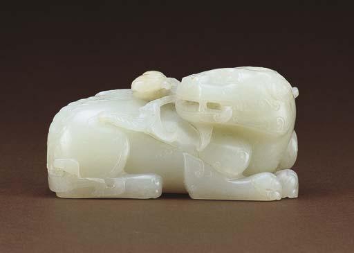 A WHITE JADE QILIN