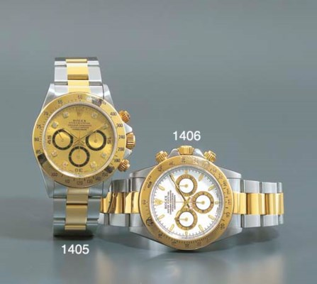 ROLEX. A STAINLESS STEEL, GOLD