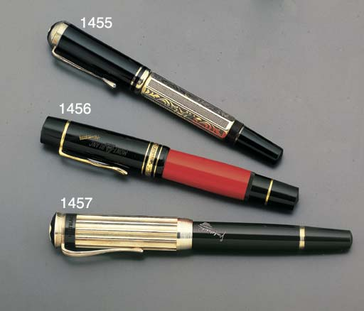 MONTBLANC. A GOLD-PLATE AND RE