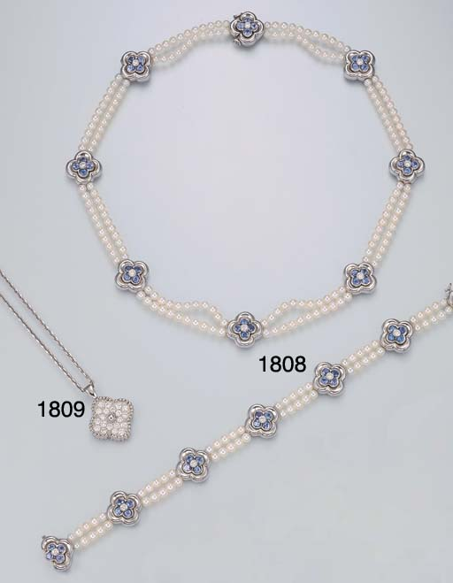 A SUITE OF CULTURED PEARL, SAP