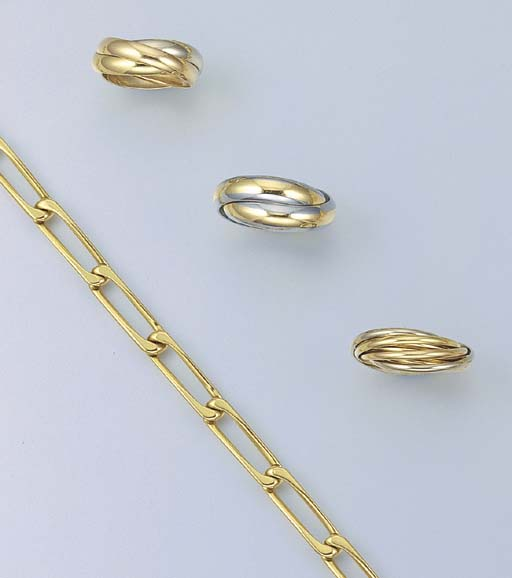 A GROUP OF GOLD JEWELLERY, BY