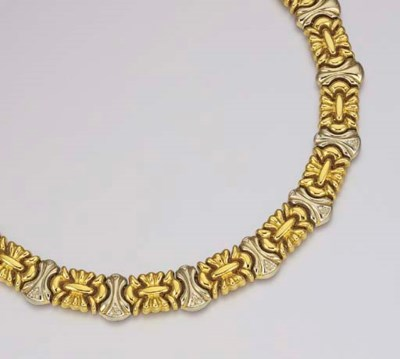 AN 18K TWO-COLOURED GOLD NECKL