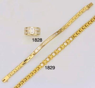 A 20K GOLD AND DIAMOND BRACELE