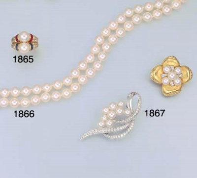 A TWO-STRAND CULTURED PEARL NE