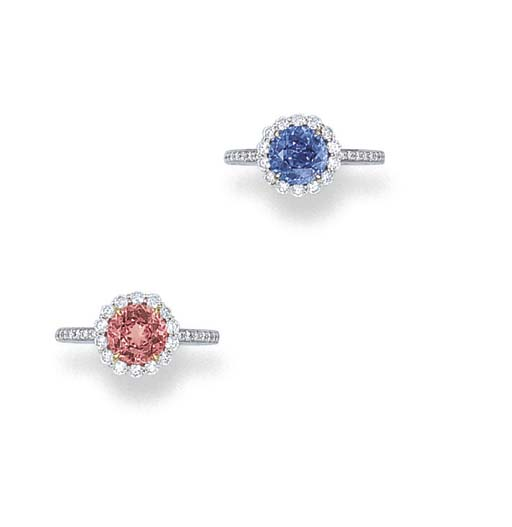 A PAIR OF SAPPHIRE OR SPINEL A