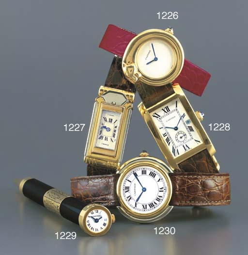 CARTIER. AN 18K TWO-COLOURED G