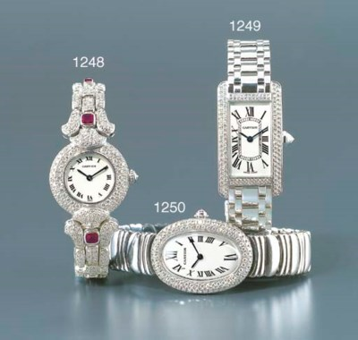 CARTIER. A FINE LADY'S 18K WHI