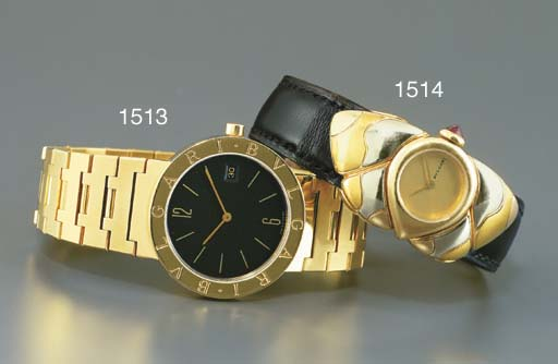 BULGARI. AN 18K GOLD WRISTWATC