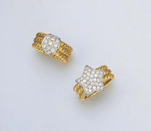 A DIAMOND AND 18K GOLD RING BY