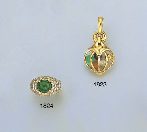 ** AN 18K GOLD AND MULTI-GEM P