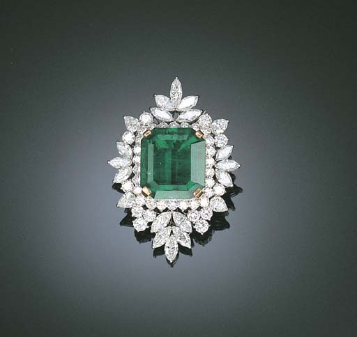 AN IMPORTANT EMERALD AND DIAMO