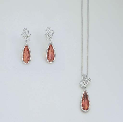 A SET OF IMPERIAL TOPAZ AND DI