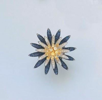 A DIAMOND, COLOURED DIAMOND AN