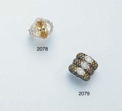 THREE COLOURED DIAMOND AND DIA