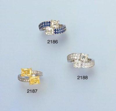 A YELLOW DIAMOND AND DIAMOND C