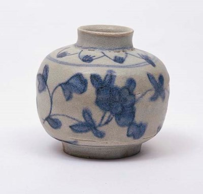 TWO UNDERGLAZE BLUE AND WHITE