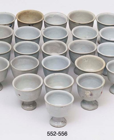TWELVE SIMILAR STEM CUPS	 (12)