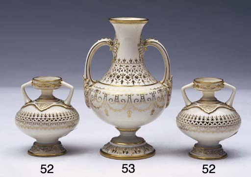 A ROYAL WORCESTER RETRICULATED