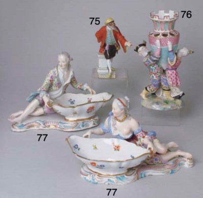 A MEISSEN PORCELAIN VASE IN TH