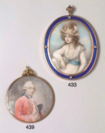 A GEORGE III MINIATURE ON IVOR