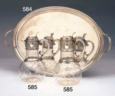TWO VICTORIAN STERLING SILVER