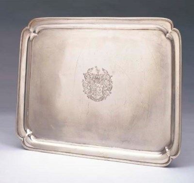 A GEORGE II OBLONG STERLING SI
