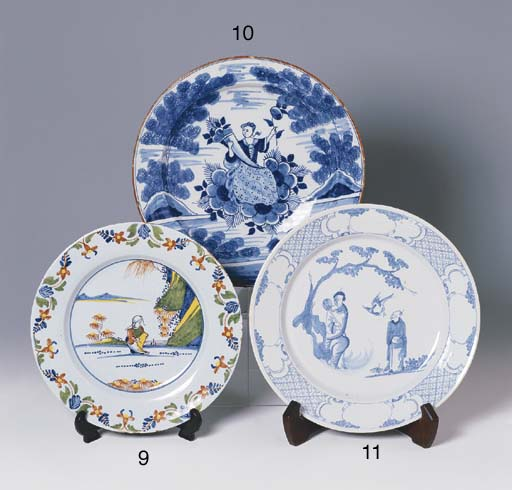AN ENGLISH DELFT PLATE