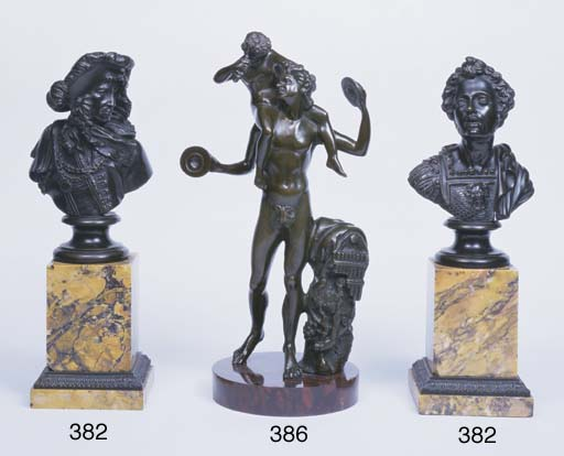 A BRONZE GROUP DIONYSUS AND TH