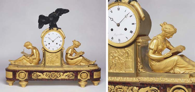 A FRENCH ORMOLU BRONZED AND RO