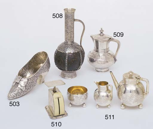 A VICTORIAN STERLING SILVER SH