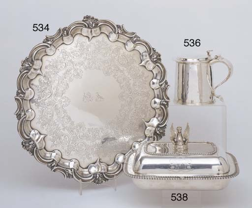 A CHARLES II STERLING SILVER T