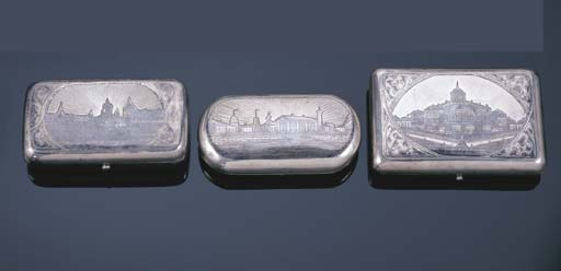 THREE RUSSIAN SILVER AND NIELL
