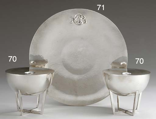 A SILVER CAKE PLATE