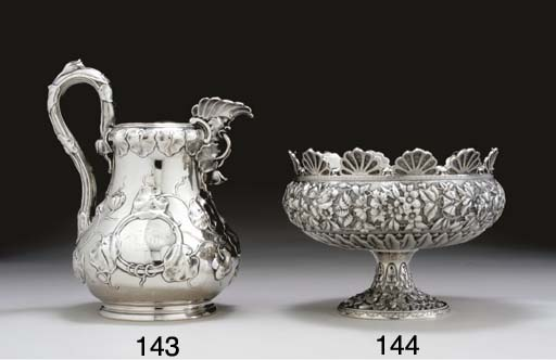 A SILVER MONTEITH PUNCH BOWL