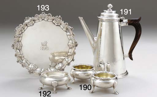 A GEORGE II SILVER WAITER OF A