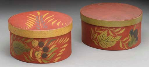 A PAIR OF PAINTED AND DECORATE