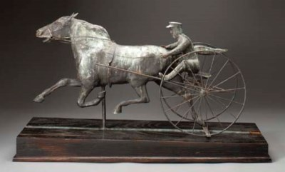 A COPPER AND ZINC MOLDED HORSE