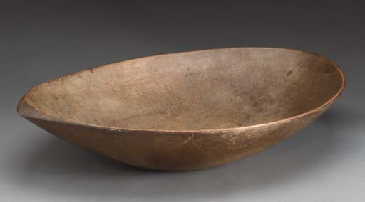 A TREENWARE OVAL BOWL