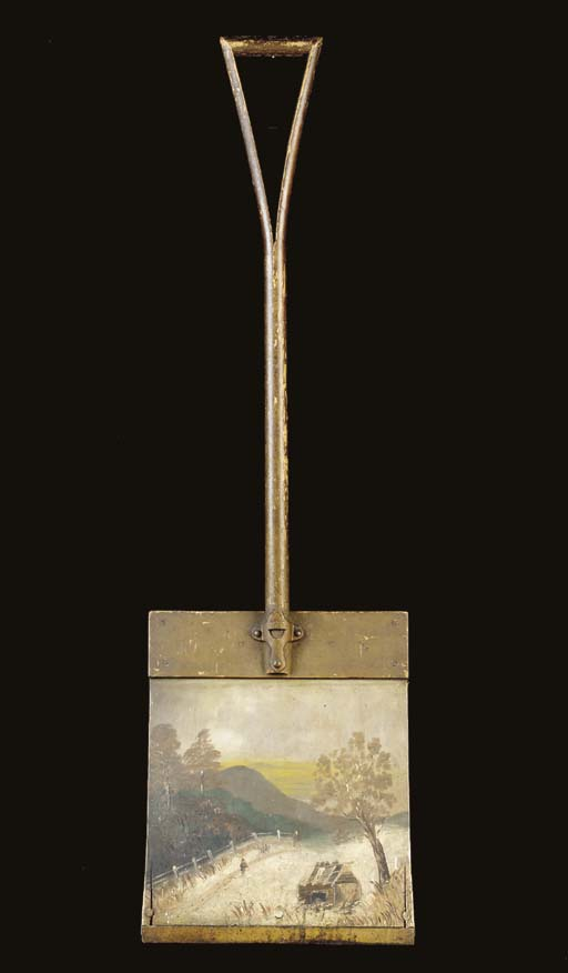 A PAINT-DECORATED SHOVEL