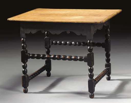 A WILLIAM AND MARY BLACK PAINT