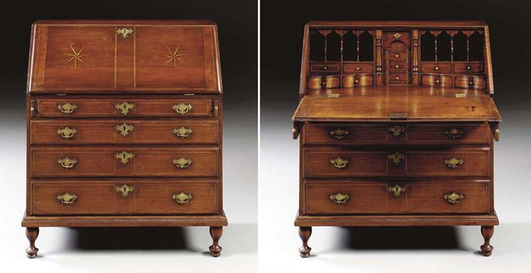 AN EARLY QUEEN ANNE INLAID WAL